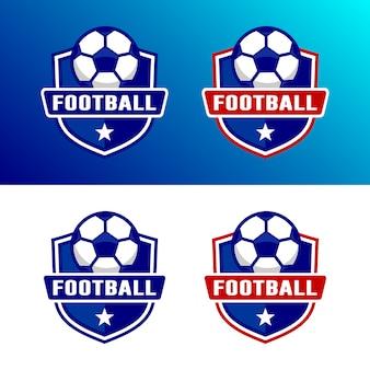 Conjunto de modelo de logotipo de futebol de futebol