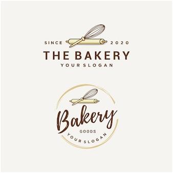 Conjunto de modelo de logotipo de padaria