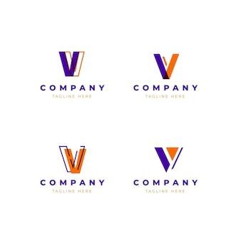 Conjunto de modelo de logotipo v