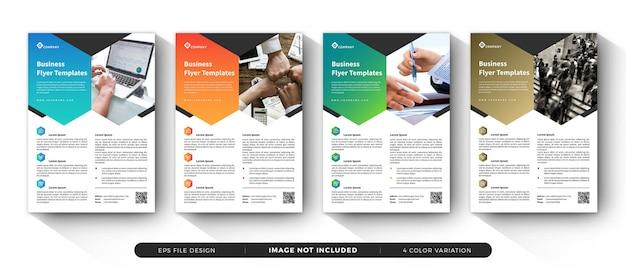 Conjunto de modelo de panfleto de negócios corporativos