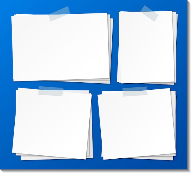 Conjunto de modelo de papel autocolante vazio