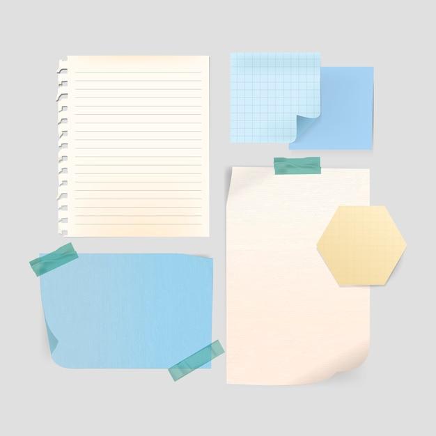 Conjunto de modelo de papelaria