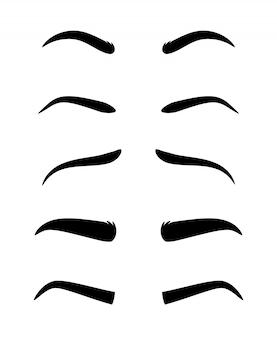Conjunto de modelo de sobrancelha