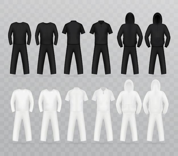 Conjunto de modelo de t-shirt, frente.