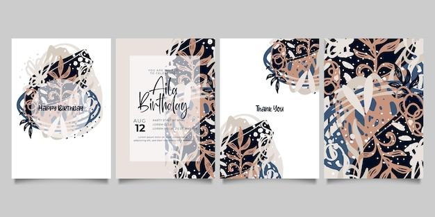 Conjunto de modelos artísticos universais criativos abstratos. bom para cartaz, cartão, convite, folheto, capa, banner, cartaz, folheto e outro design gráfico.