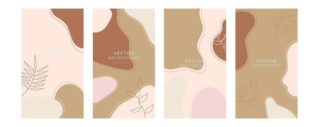 Conjunto de modelos artísticos universais florais com cor pastel ouro azul. bom para cartões, convites, folhetos e outro design gráfico. cartão floral quadrado
