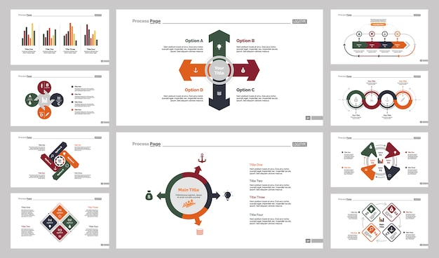 Conjunto de modelos de 10 modelos de slides de estratégia