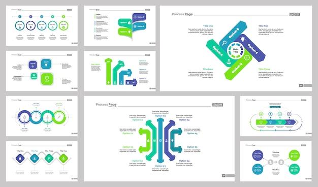 Conjunto de modelos de 10 modelos de slides de negócios