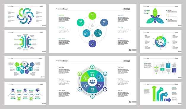 Conjunto de modelos de 10 planos de planejamento