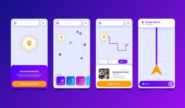 Conjunto de modelos de aplicativo de localização