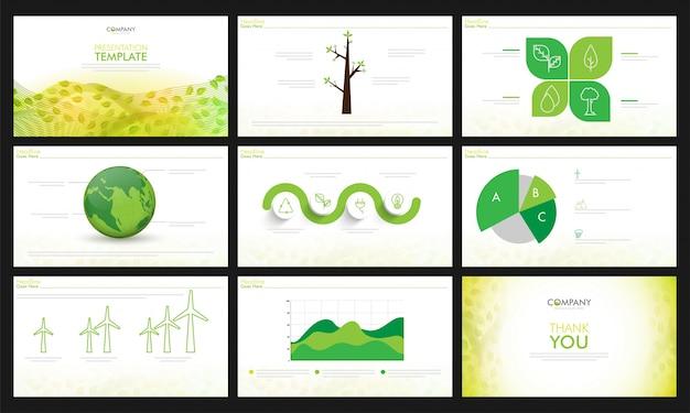 Conjunto de modelos de apresentação ecológica.