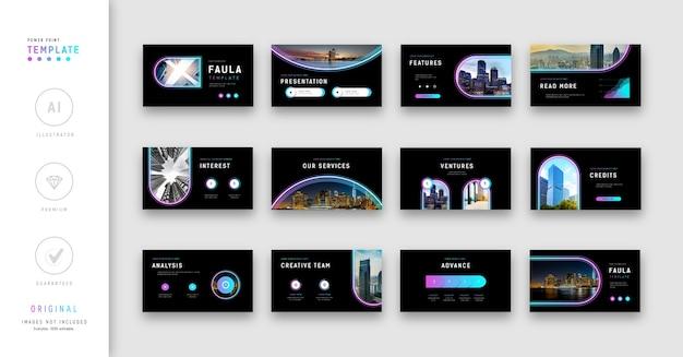 Conjunto de modelos de apresentação moderna