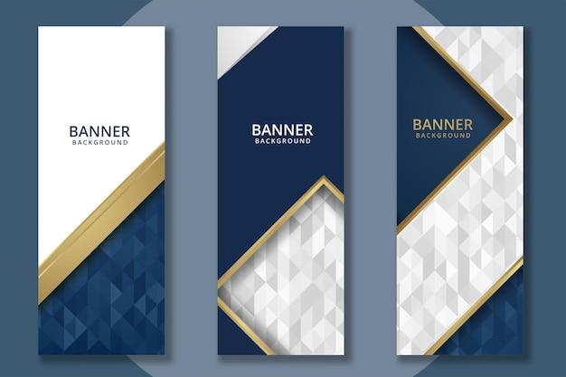 Conjunto de modelos de banner abstrato vertical