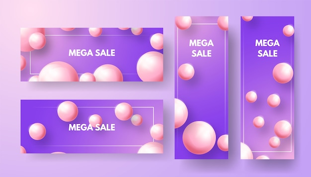 Conjunto de modelos de banner. com um design minimalista