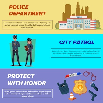 Conjunto de modelos de banner da web da polícia