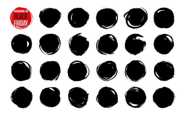 Conjunto de modelos de banner de pintura de venda black friday