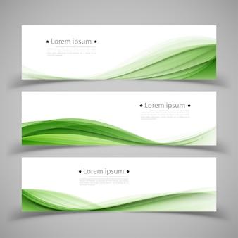 Conjunto de modelos de banner. design abstrato moderno.
