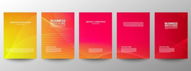 Conjunto de modelos de brochuras de negócios