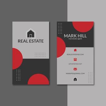 Conjunto de modelos de cartão de negócios imobiliário