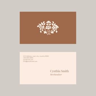 Conjunto de modelos de cartão de visita feminino