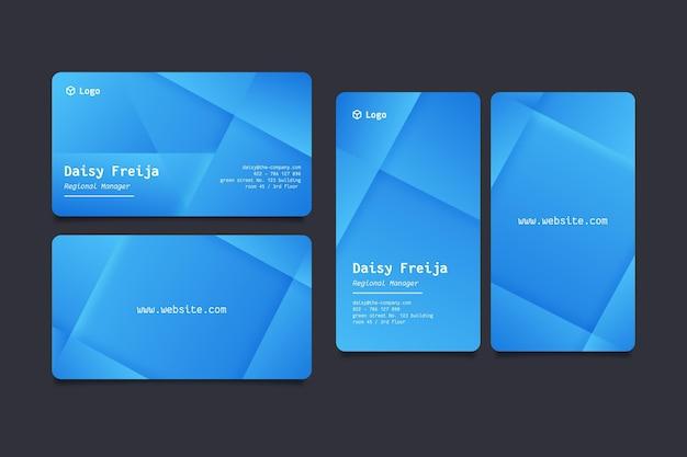Conjunto de modelos de cartão de visita neumorph