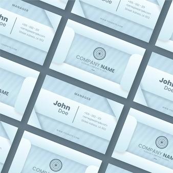 Conjunto de modelos de cartão de visita prata neumorph