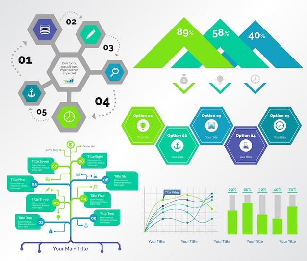 Conjunto de modelos de cinco guias de consultoria
