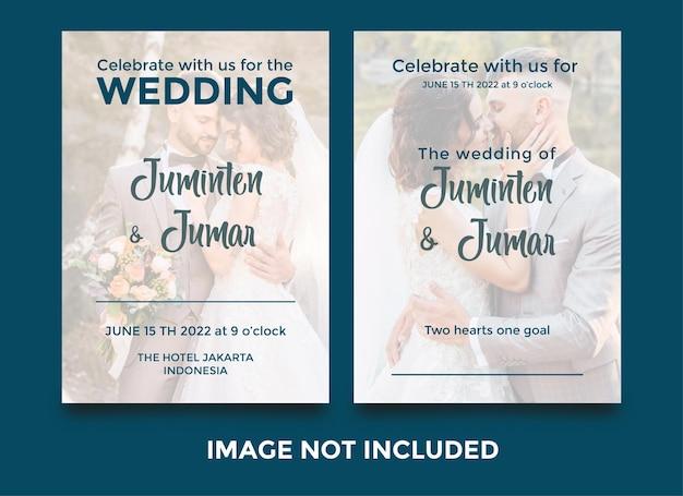 Conjunto de modelos de convite de casamento editáveis Vetor Premium