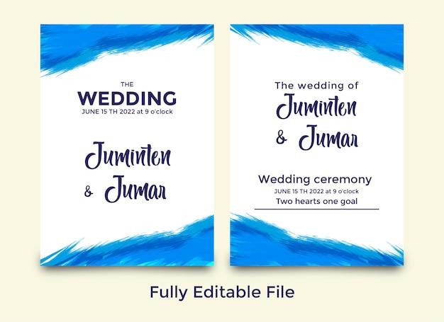 Conjunto de modelos de convite de casamento editáveis