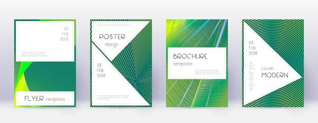 Conjunto de modelos de design de brochura elegante