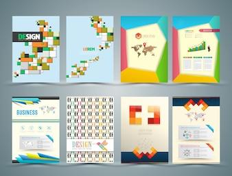 Conjunto de modelos de design de brochura
