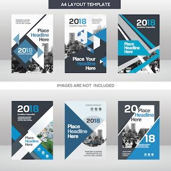 Conjunto de modelos de design de capa de livro de negócios do fundo da cidade
