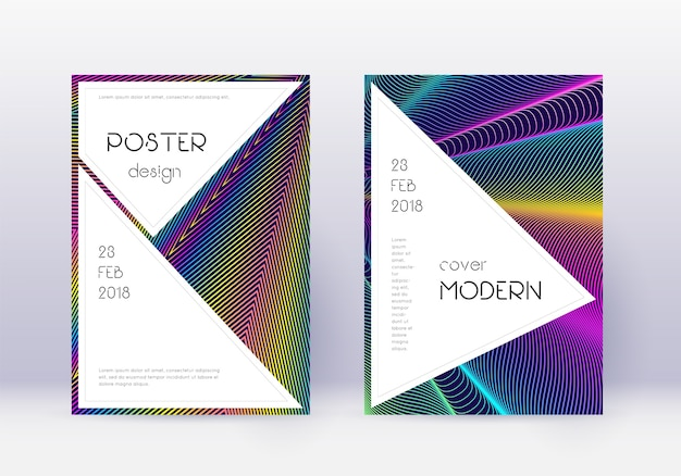Conjunto de modelos de design de capa elegante