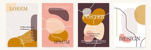 Conjunto de modelos de design de capa moderna