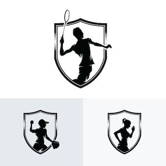 Conjunto de modelos de design de logotipo esportivo