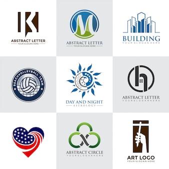 Conjunto de modelos de design moderno de logotipo