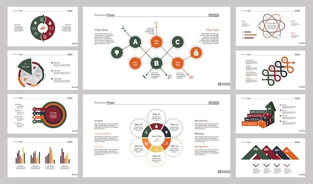 Conjunto de modelos de dez guias de consultoria