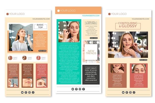 Conjunto de modelos de e-mail de blogger criativo