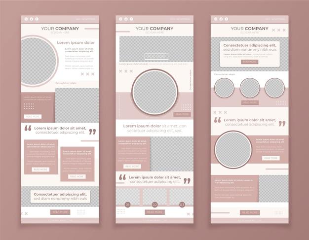 Conjunto de modelos de e-mail do blogger