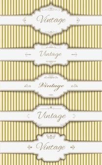 Conjunto de modelos de etiquetas vintage