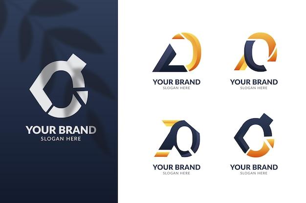 Conjunto de modelos de gradiente o logotipos