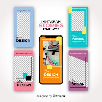 Conjunto de modelos de histórias do Instagram