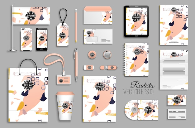 Conjunto de modelos de identidade corporativa. artigos de papelaria para negócios. design de marca.