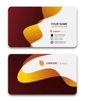 Conjunto de modelos de impressão moderna criativa e design de cartão de visita. estilo simples vector illustr