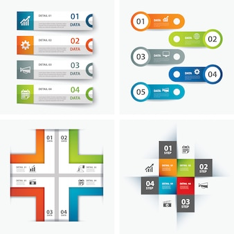 Conjunto de modelos de infográfico