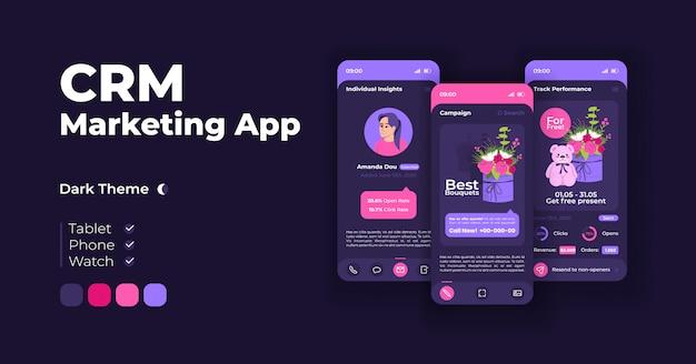 Conjunto de modelos de interface de smartphone para promoção online