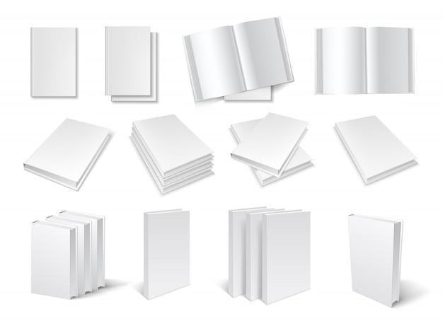 Conjunto de modelos de livro em branco
