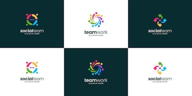 Conjunto de modelos de logotipo colorido
