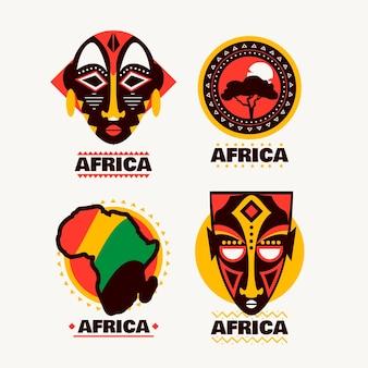 Conjunto de modelos de logotipo da áfrica