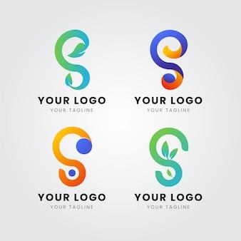 Conjunto de modelos de logotipo da gradient